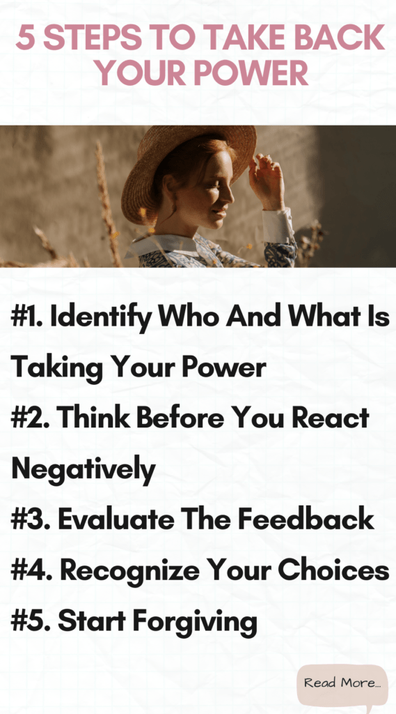 5 Steps to Take Back Your Power And Start Loving Your Life