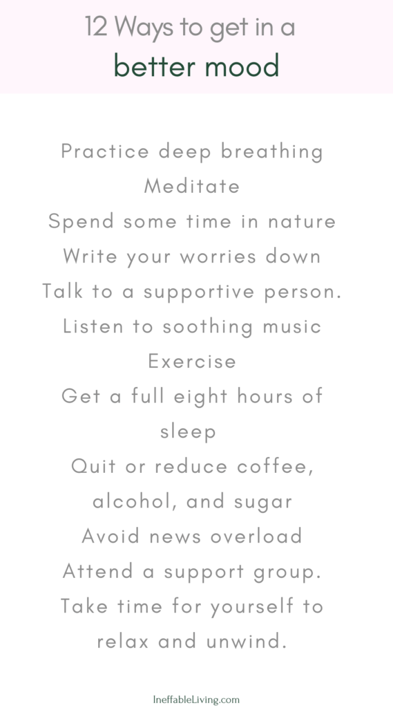 12 Ways to get in a better mood