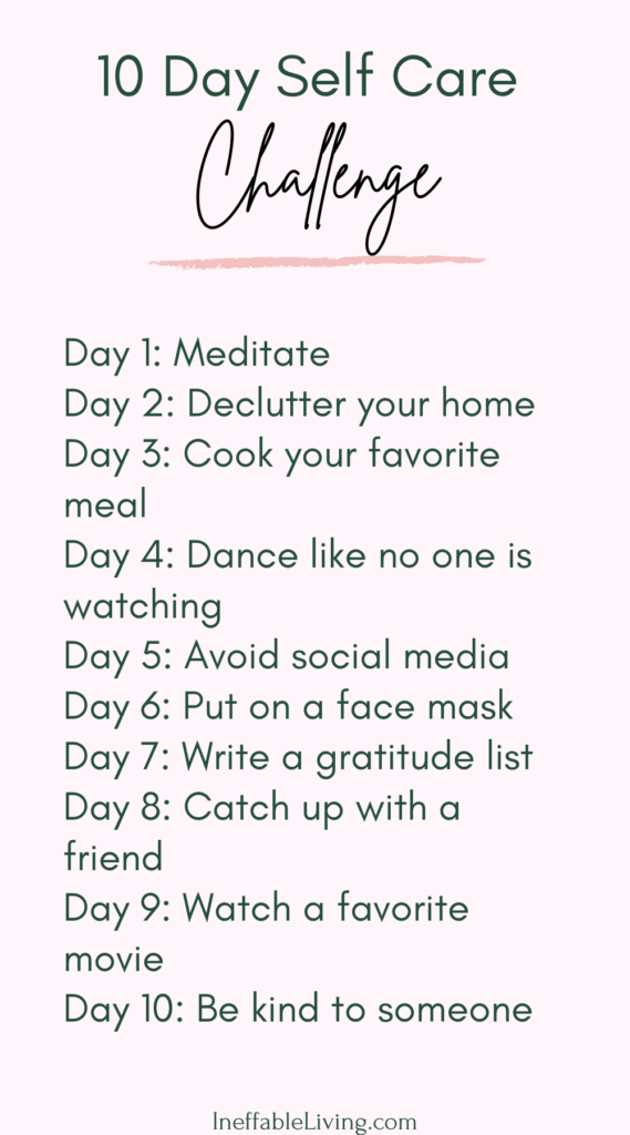 10 day self-care challenge