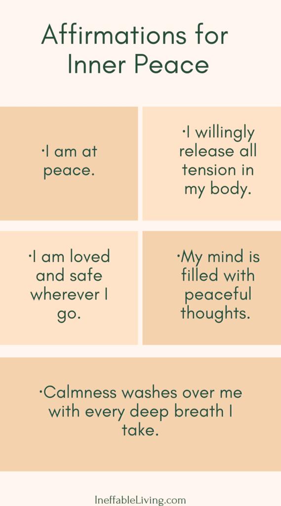 affirmation for inner peace