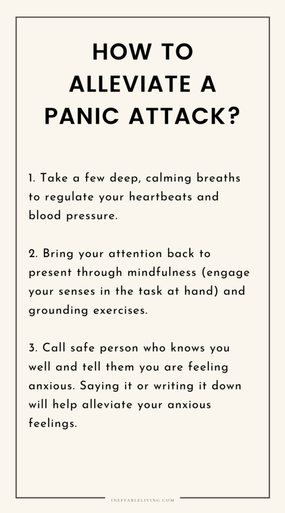 how to manage a panic attack