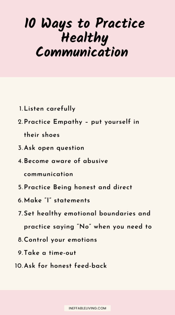 how to practice healthy communication