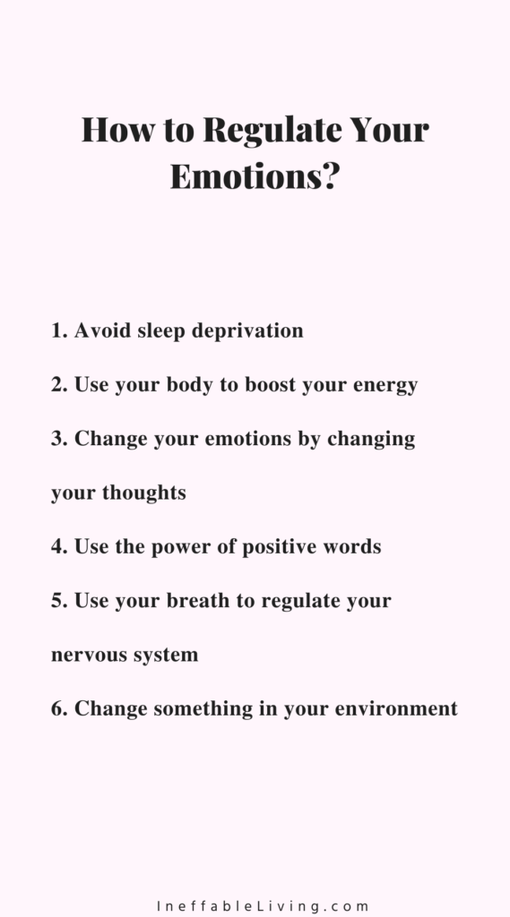 how to regulate your emotions