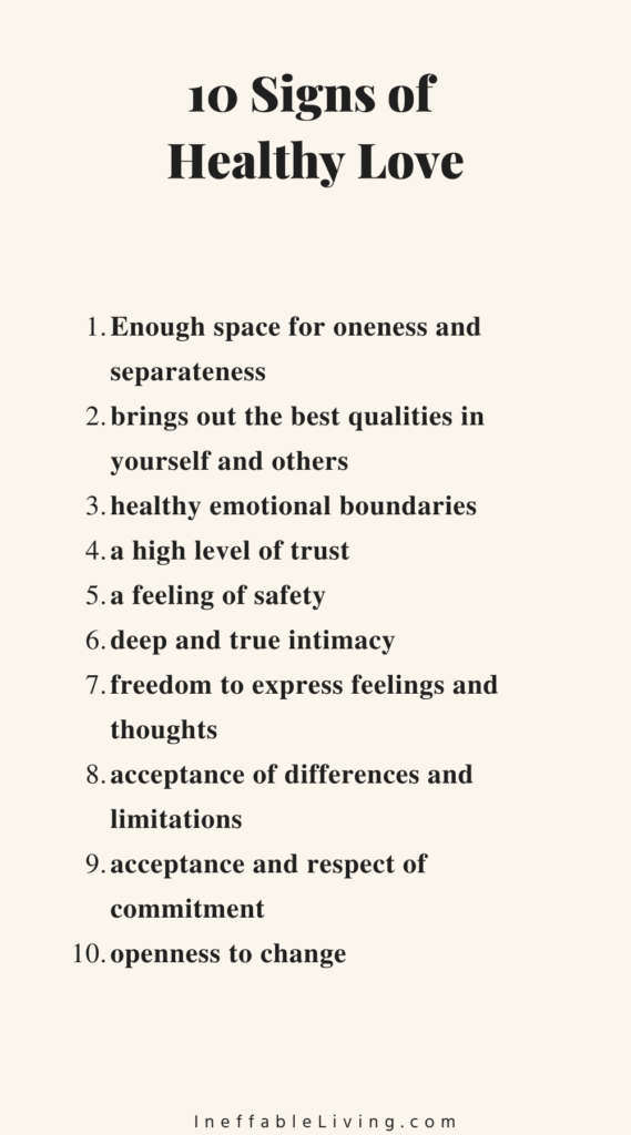 Signs of Healthy Love