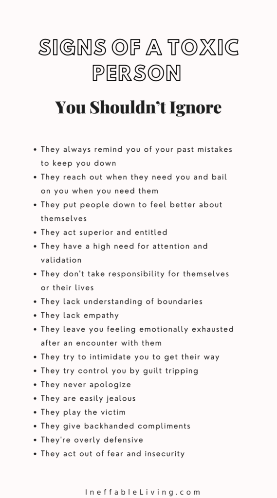 Signs of a Toxic Person You Shouldn't Ignore