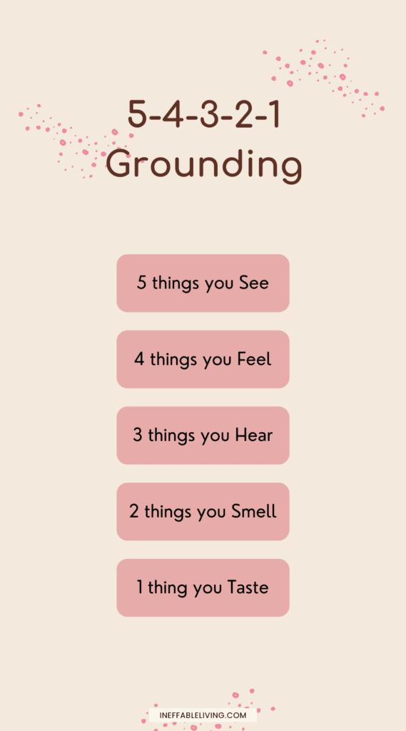 grounding exercise 5-4-3-2-1