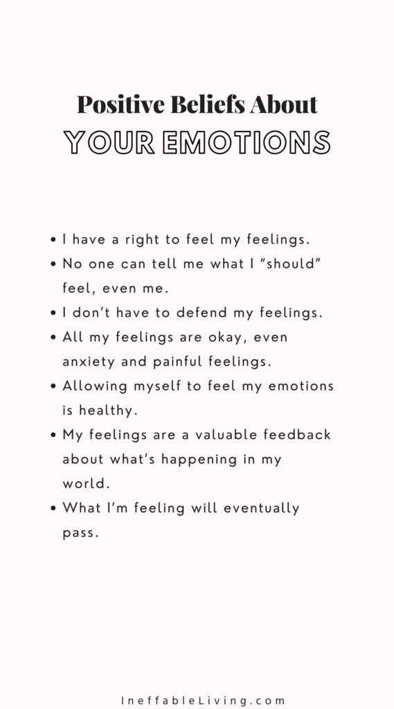 positive beliefs about your feelings