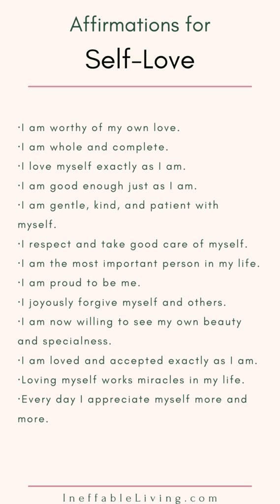 Self-love Affirmations positive