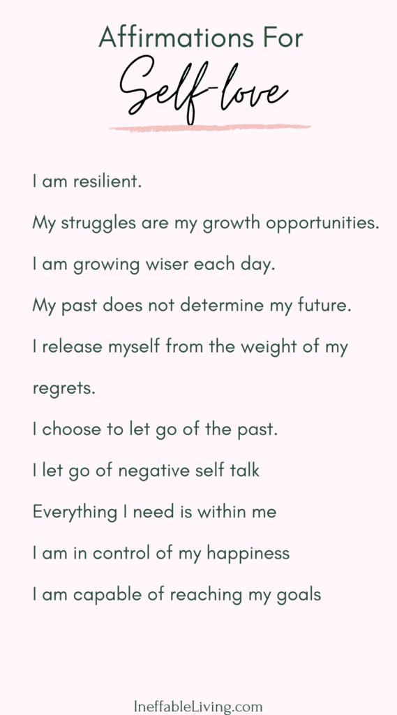 self-love positive affirmations