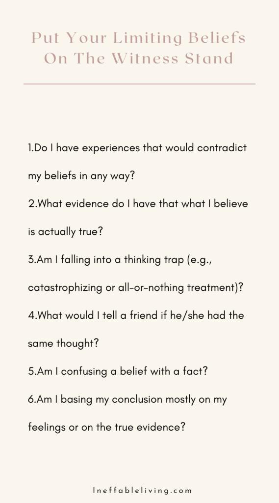 dealing with negative beliefs