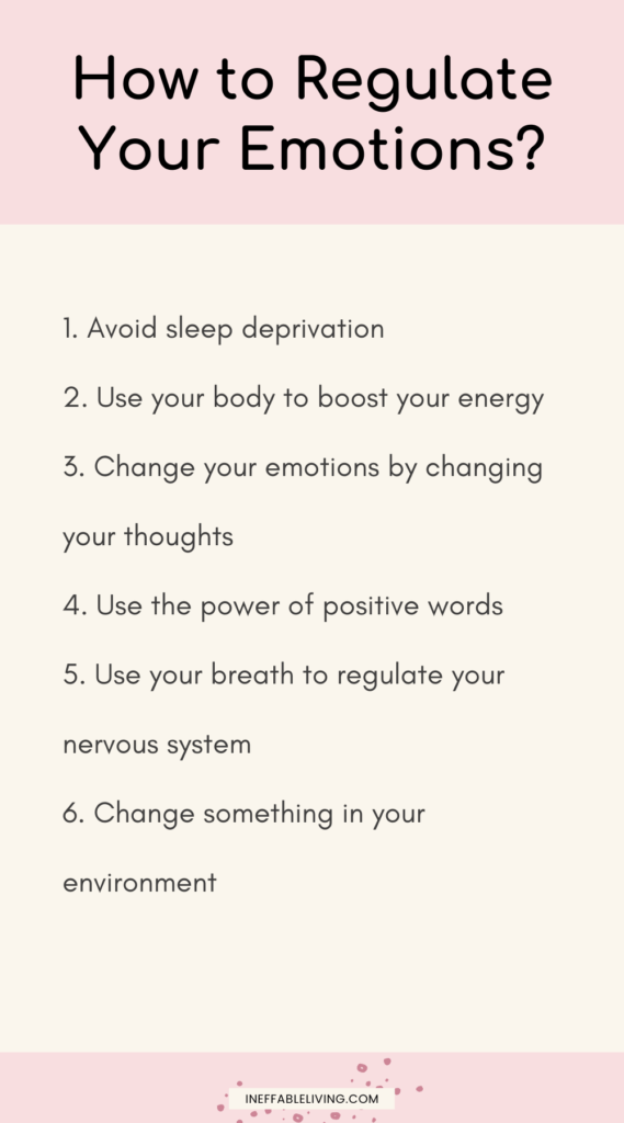 how to regulate emotions?