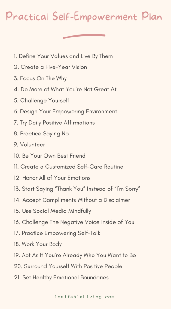 Practical Self-Empowerment Plan 21 Steps to Take Back Your Power