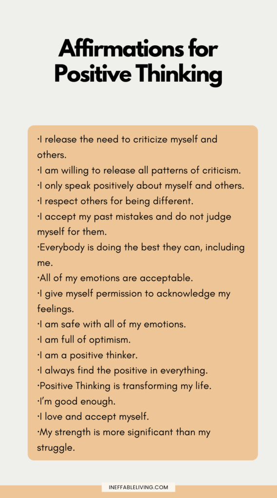 Affirmation for positive thinking