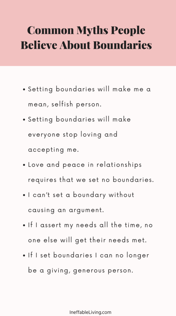 Common Myths People Believe About Boundaries