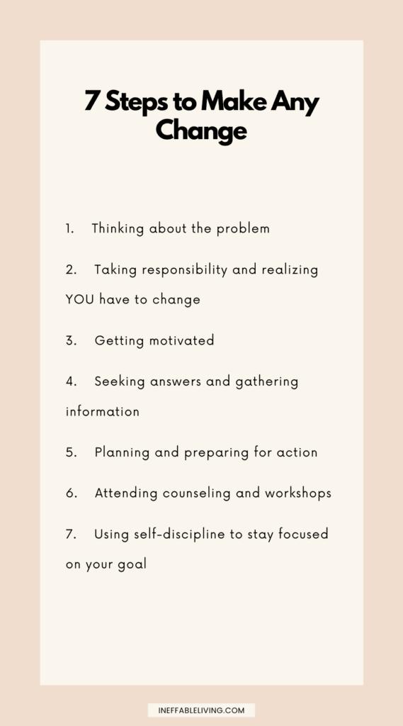 steps to make any change